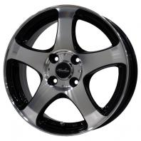 KIRCHEIS S5 14x5.5 38 100x4 BLACK POLISH