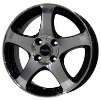 KIRCHEIS S5 15x6.0 45 100x4 BLACK POLISH + MOMO NORTH POLE W-1 185/60R15 84H スタッドレス【セール品】