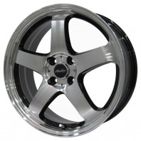 KIRCHEIS S5 17x7.0 45 100x4 BLACK POLISH + NANKANG SV-2 205/40R17 84V XL スタッドレス【セール品】