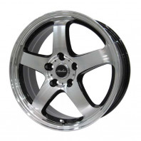 KIRCHEIS S5 17x7.0 50 100x5 BLACK POLISH + HIFLY Win-turi 212 205/45R17 88H XL スタッドレス