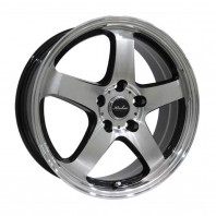 KIRCHEIS S5 18x7.5 48 114.3x5 BLACK POLISH + DAVANTI WINTOURA SUV 235/60R18 107H XL スタッドレス