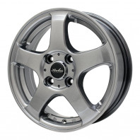 KIRCHEIS S5 15x5.5 43 100x4 METALLIC GRAY + HIFLY Win-turi 212 175/60R15 81H スタッドレス【セール品】