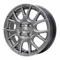 Verthandi YH-M7 13x4.0 43 100x4 METALLIC GRAY + MOMO NORTH POLE W-1 155/80R13 79T スタッドレス【セール品】