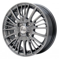 Verthandi YH-S25 13x4.0 43 100x4 METALLIC GRAY + MOMO NORTH POLE W-1 155/80R13 79T スタッドレス【セール品】
