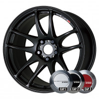 WORK EMOTION CR KIWAMI 17x7.0 38 114.3x5 MBL + NANKANG SV-2 215/40R17 87V XL スタッドレス【セール品】