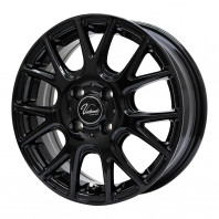 Verthandi YH-M7 15x5.5 50 100x4 BLACK + MOMO NORTH POLE W-1 175/60R15 81H スタッドレス【セール品】