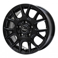Verthandi YH-M7 15x6.0 43 114.3x5 BLACK + MOMO NORTH POLE W-2 205/65R15 94H スタッドレス【セール品】