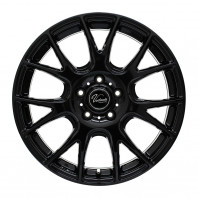 Verthandi YH-M7 18x8.0 35 114.3x5 BLACK + MOMO NORTH POLE W-2 245/40R18 97V XL スタッドレス