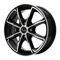 Verthandi PW-S8 13x4.0 45 100x4 BK/POLISH + MOMO NORTH POLE W-1 155/80R13 79T スタッドレス【セール品】