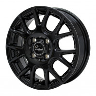 Verthandi YH-M7V 13x4.0 43 100x4 BLACK + MOMO NORTH POLE W-1 155/80R13 79T スタッドレス【セール品】