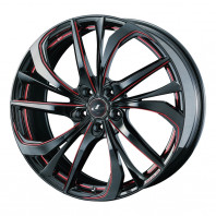 LEONIS TE 17x7.0 53 114.3x5 BK/SCRED + NANKANG SV-2 215/40R17 87V XL スタッドレス【セール品】