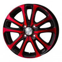 CEREBRO LF5 15x5.5 42 100x4 RED + HIFLY Win-turi 212 175/60R15 81H スタッドレス【セール品】