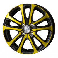 CEREBRO LF5 15x5.5 42 100x4 YELLOW + HIFLY Win-turi 212 175/60R15 81H スタッドレス【セール品】