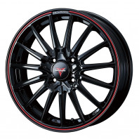 NOVARIS ROHGUE SO 15x4.5 45 100x4 BK/RED + MINERVA Polarice 1 165/65R15 81T スタッドレス