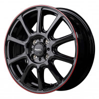 Rapid performance ZX10 15x5.5 43 100x4 BKR + MOMO NORTH POLE W-2 195/55R15 85H スタッドレス【セール品】
