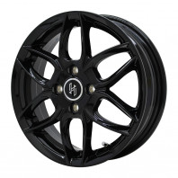 HERSE K-01 14x4.5 43 100x4 BLACK + GOODYEAR EfficientGrip ECO EG01 165/70R14 81S